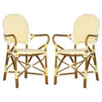 Safavieh Hooper Indoor/Outdoor Armchairs in Yellow/White (Set of 2)