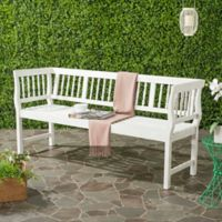Safavieh Brentwood Outdoor Bench in Antique/White