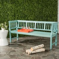 Safavieh Brentwood Outdoor Bench in Blue/Beige