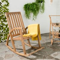 Safavieh Clayton Acacia Wood Rocking Chair in Teak