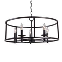 Kenroy Home Arlen 5-Light Chandelier in Oil Rubbed Bronze