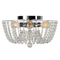 Kenroy Home Celeste 3-Light Flush-Mount Ceiling Fixture in Chrome