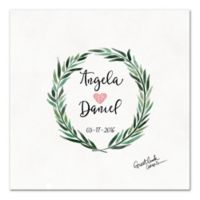 Watercolor Wreath Guest Book 20-Inch Canvas Wall Art