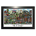 """Pubs of Lincoln, Nebraska"" Lithograph Wall Art"