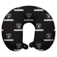 NFL Oakland Raiders Polyester U-Shaped Neck Travel Pillow