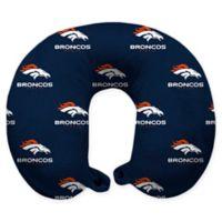 NFL Denver Broncos Polyester U-Shaped Neck Travel Pillow