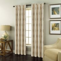Scranton 63-Inch Rod Pocket Window Curtain Panel in Linen