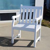 Vifah Bradley Outdoor Garden Chair in White