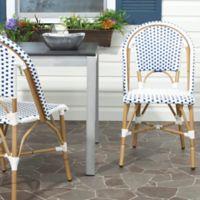 Safavieh Salcha Indoor/Outdoor Stackable Side Chairs in Blue/White (Set of 2)