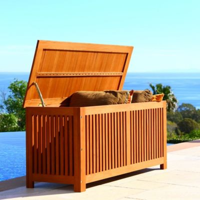 Vifah Bresa Storage Box In Natural Wood