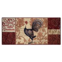 Brumlow Mills Rooster Damask 1-Foot 8-Inch x 2-Foot 10-Inch Accent Rug in Brown