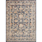 Magnolia Home by Joanna Gaines Trinity Floral Border 5-Foot 3-Inch x 7-Foot 6-Inch Area Rug in Navy