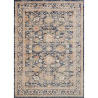 Magnolia Home by Joanna Gaines Trinity Floral Border 12-Foot x 15-Foot Area Rug in Navy