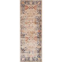 Magnolia Home by Joanna Gaines Trinity Floral 2-Foot 8-Inch x 7-Foot 6-Inch Runner in Sand/Blue