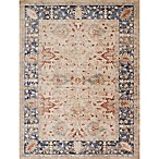 Magnolia Home by Joanna Gaines Trinity Floral 3-Foot 7-Inch x 5-Foot 7-Inch Accent Rug in Sand/Blue