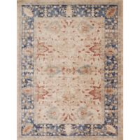 Magnolia Home by Joanna Gaines Trinity Floral 6-Foot 7-Inch x 9-Foot 2-Inch Runner in Sand/Blue