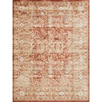 Magnolia Home by Joanna Gaines Trinity 6-Foot 7-Inch x 9-Foot 2-Inch Area Rug in Terracotta