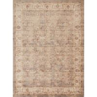 Magnolia Home by Joanna Gaines Trinity Border Vines 9-Foot 6-Inch x 13-Foot Area Rug in Sand/Ivory