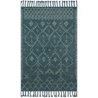 Magnolia Home by Joanna Gaines Tulum 7-Foot 9-Inch x 9-Foot 9-Inch Area Rug in Blue