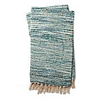 Magnolia Home by Joanna Gaines Bree Reversible Throw Blanket in Blue/Ivory
