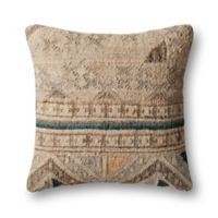 Magnolia Home by Joanna Gaines Taylor Square Throw Pillow in Beige/Blue