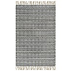 Handwoven Boho 2-Foot x 3-Foot Accent Rug in Metallic Grey
