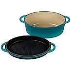 Le Creuset® 4.75 qt. Oval Oven with Reversible Grill Pan Lid in Caribbean