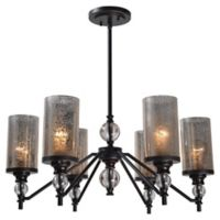 Kenroy Home Chloe 6-Light Chandelier in Oil Rubbed Bronze