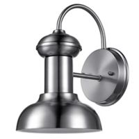 Globe Electric Lunes 1-Light Indoor/Outdoor Wall Sconce in Brushed Nickel