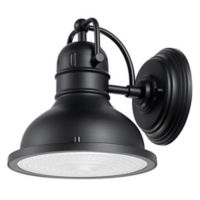 Globe Electric Harbor 1-Light Indoor/Outdoor Wall Sconce in Matte Black