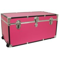 Mercury Luggage 31-Inch Oversized Storage Trunk in Pink