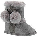 Michael Kors Newborn Fur-Trimmed Boot in Silver