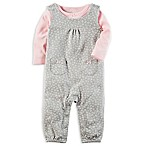 carter's® Size 3M 2-Piece Long Sleeve Top and Floral Coverall Set
