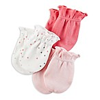 carter's® 3-Pack Sweet Hearts Mitts in Pink