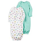 carter's® Newborn 2-Pack Butterfly/Dot Sleeper Gowns