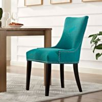 Modway Marquis Upholstered Dining Side Chair in Teal