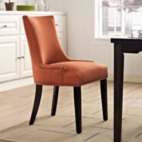 Modway Marquis Upholstered Dining Side Chair in Orange
