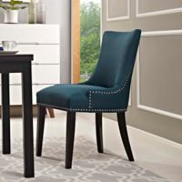 Modway Marquis Upholstered Dining Side Chair in Azure