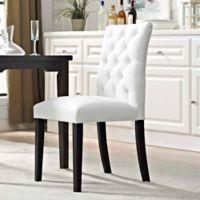 Modway Duchess Vinyl Dining Side Chair in White