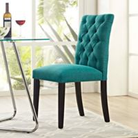 Modway Duchess Upholstered Dining Side Chair in Teal
