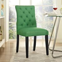 Modway Duchess Upholstered Dining Side Chair in Green