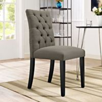Modway Duchess Upholstered Dining Side Chair in Granite