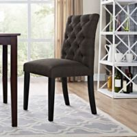 Modway Duchess Upholstered Dining Side Chair in Brown