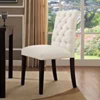Modway Duchess Upholstered Dining Side Chair in Beige