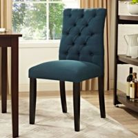 Modway Duchess Upholstered Dining Side Chair in Azure