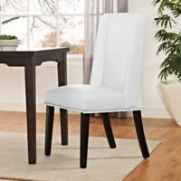 Modway Baron Vinyl Dining Side Chair in White