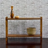 Cayu Live Edge Console Table in Brown