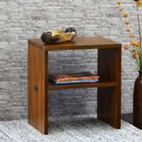 Cayu Live Edge Side Table in Brown