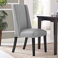 Modway Baron Fabric Dining Side Chair in Light Grey
