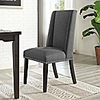 Modway Baron Fabric Dining Side Chair in Grey